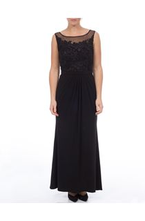 Eloise Lace Bodice Sleeveless Maxi Dress