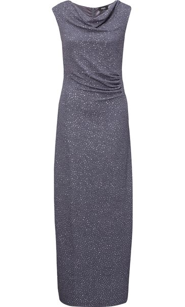 Cowl Neck Sparkle Maxi Dress
