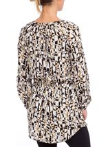Abstract Printed Long Sleeve Tunic