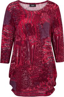 Printed Ruched Tunic