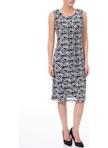 Anna Rose Sleeveless Cornelli Midi Dress