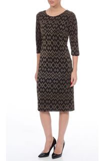Diamond Design Sparkle Three Quarter Sleeve Midi Dress