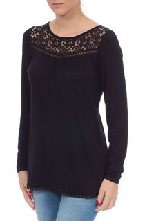 Lace Trim Long Sleeve Jersey Top