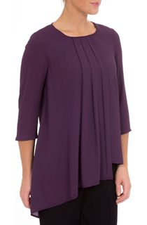 Three Quarter Sleeve Chiffon Wrap Over Top