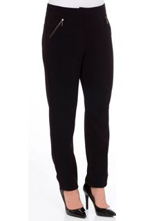 Narrow Leg Zip Pocket Trousers