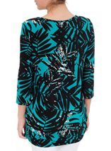 Three Quarter Sleeve Printed Tunic