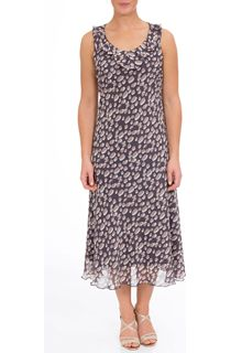 Anna Rose Printed Bias Cut Georgette Dress