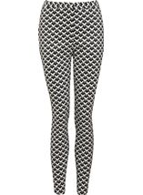 Monochrome Narrow Leg Stretch Trousers