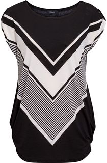 Monochrome Short Sleeve Tunic