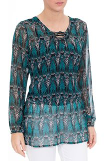 Printed Long Sleeve Georgette Top