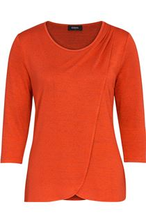 Wrap Over Knit Top - Papaya