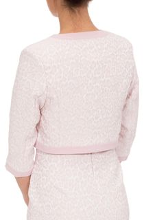 Anna Rose Jacquard Fitted Jacket - Pink