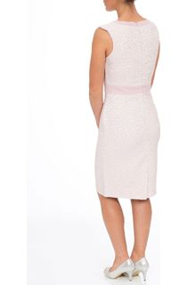 Anna Rose Sleeveless Patterned Shift Dress - Pink