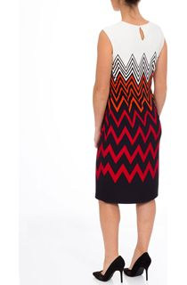 Sleeveless Placement Print Midi Dress
