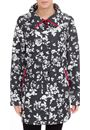 Printed Floral And Spot Parka - BLACK/WHITE - 10