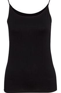 Strappy Jersey Camisole Top - Black