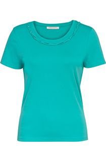 Anna Rose Short Sleeve Jersey Top - Turq