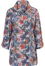 Printed Turn Sleeve Lightweight Zip Jacket - MULTI TILE PRINT - 22