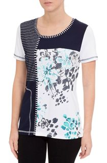 Anna Rose Panelled Short Sleeve Top