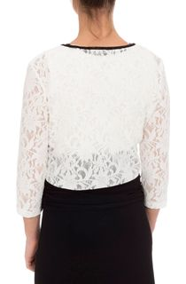 Three Quarter Sleeve Short Lace Jacket