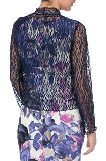 Anna Rose Sparkle Knit Tie Cover Up - Blue