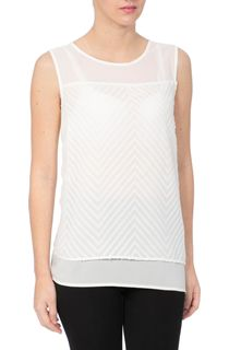 Sleeveless Burnout Layer Top