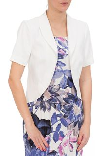 Anna Rose Short Sleeve Linen Blend Jacket