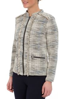 Unlined Zip Fringed Jacket