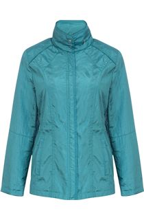 Lightweight Crinkle Zip Jacket - Green