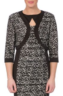 Textured Monochrome Open Jacket