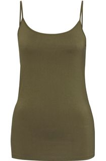 Strappy Jersey Camisole Top - Khaki