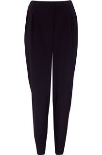 Jersey Elasticated Waist Tapered Leg Trousers