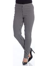 Monochrome Printed Narrow Leg Trousers