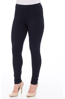 Full Length Jersey Leggings - Navy