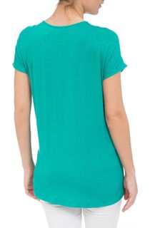 Short Sleeve Laser Cut Top - Green
