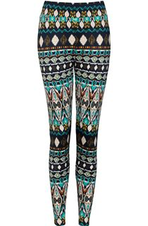 Ethnic Print Scuba Trousers