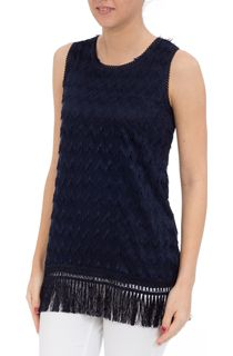 Sleeveless Lace Top - Navy