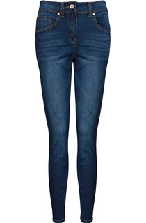 Relaxed Skinny Stretch Jeans - Denim