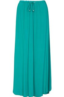 Tie Elasticated Waist Maxi Skirt