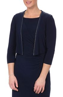 Embellished Three Quarter Sleeve Cover Up - Midnight