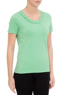 Anna Rose Short Sleeve Jersey Top - Zinc