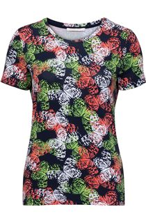 Anna Rose Short Sleeve Butterfly Print Top