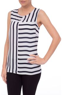 Monochrome Stripe Sleeveless Top