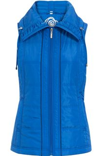 Anna Rose Ruched Collar Gilet - Blue