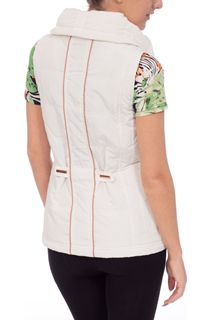 Anna Rose Ruched Collar Gilet - Ivory