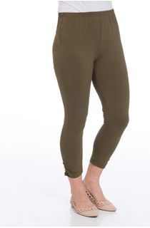 Cropped Jersey Leggings - Green