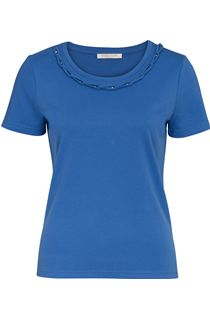 Anna Rose Short Sleeve Jersey Top - Blue