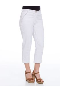 Cropped Stretch Jeans - White