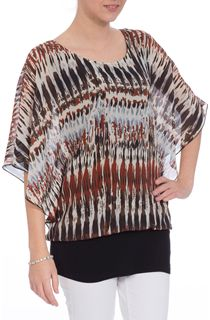 Chiffon Layered Patterned Top