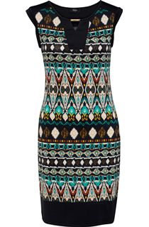 Printed Sleeveless Midi Dress